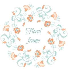 Floral garland Flower border frame in pastel vector image