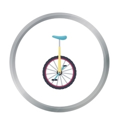 Monocycle icon in cartoon style isolated on white vector image