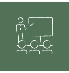 Business presentation icon drawn in chalk vector image vector image