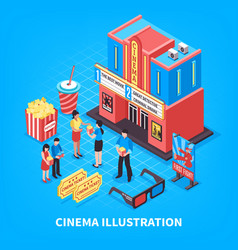 cinematography isometric design concept vector image