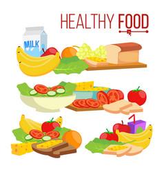 healthy food help health-care healthy vector image