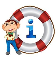 Monkey Information Kiosk Sign vector image vector image