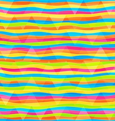 rainbow lines seamless pattern vector image