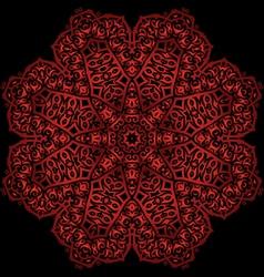 Red metal flower vector