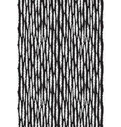 Seamless pattern with stripes Black and white hand vector image vector image