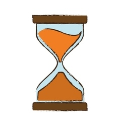 drawing clock glass sand business vector image vector image