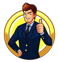 Great Businessman vector image vector image