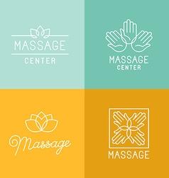 Massage logos vector image vector image