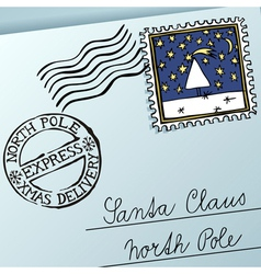 xmas letter vector image vector image