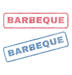 Barbeque textile stamps vector