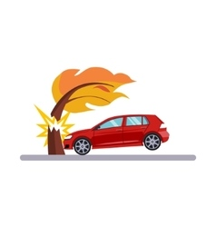 Car and Transportation Issue with a Tree vector image vector image