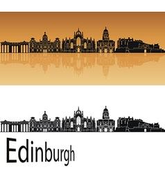 Edinburgh skyline in orange vector image vector image