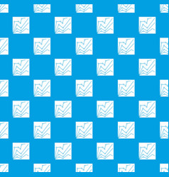 financial statistics pattern seamless blue vector image