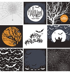 set of design elements for Halloween Seamless bac vector image vector image