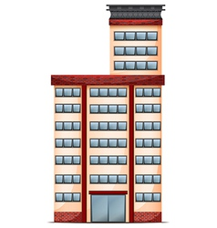 A tall commercial building vector image