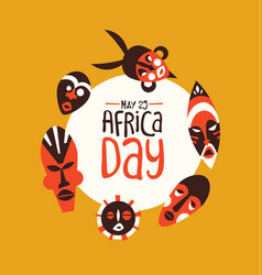 africa day card tribal african mask art vector image