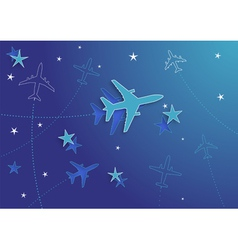 airplanes and stars vector image