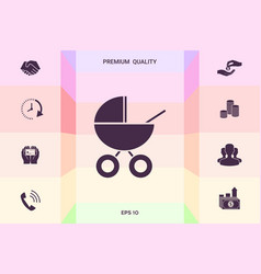 Baby carriage icon graphic elements for your vector