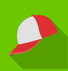 baseball cap baseball single icon in flat style vector image