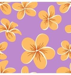 Beautiful plumerias seamless pattern vector