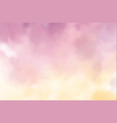 beautiful violet and golden yellow twilight sky vector image