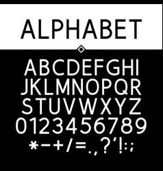 black strict alphabet vector image