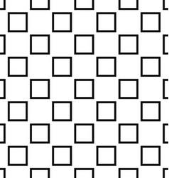 Black white seamless square pattern design vector
