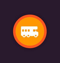 Camping van camper icon vector