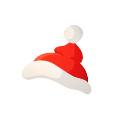 Cartoon of santa red hat isolated on vector