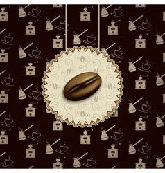 coffee bean background vector image