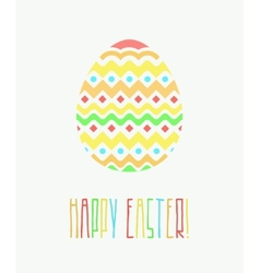 Colorful Happy Easter Greeting Card with vector