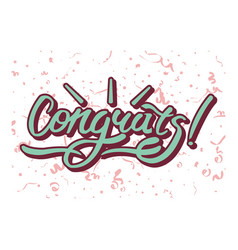 Congrats inscription on background with festive vector