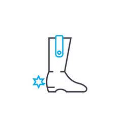 cowboy boots linear icon concept cowboy boots vector image
