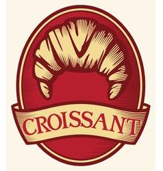 croissant label vector image