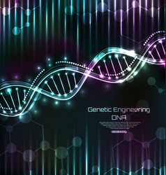 dna structure spiral science template medical vector image