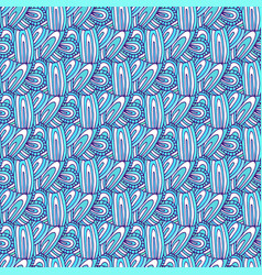 Doodle pattern wavy seamless background for vector