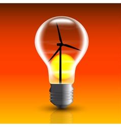 eco bulb 2 vector image vector image