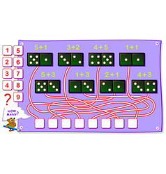 educational page for kids on addition how many vector image