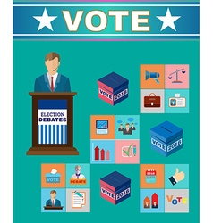 Election Debates Banner vector