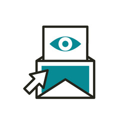 email vision click web development icon line and vector image
