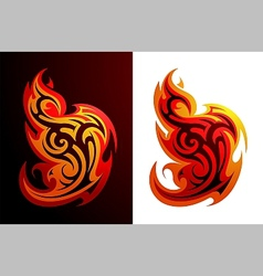 Fire flames tattoo vector image