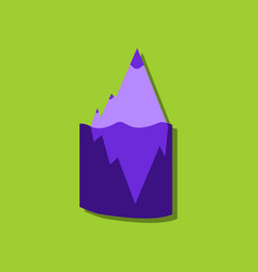 Flat icon design collection iceberg in water in vector