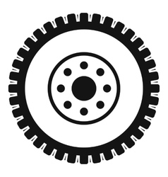 Gear wheel icon simple style vector