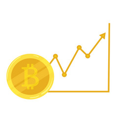 Gold coin bitcoin course going up crypto vector
