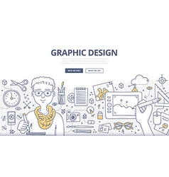 Graphic Design Doodle Concept vector image