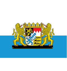 great coat arms on flag bavaria germany vector image