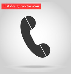 handset landline home phone icon flat vector image