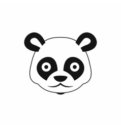 Head of panda icon simple style vector image