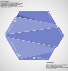 Infographic template with purple hexagon randomly vector