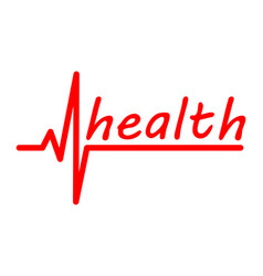 inscription health vector image